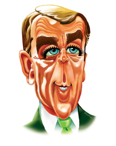 Jerry Dowling Studio Caricature of John Boehner
