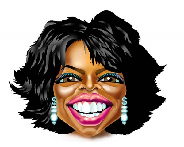 Jerry Dowling Studio Caricature of Oprah Winfrey