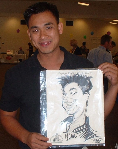 Ray Russotto Party Caricature
