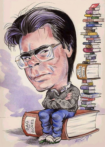 Ray Russotto Studio Caricature of Stephen King
