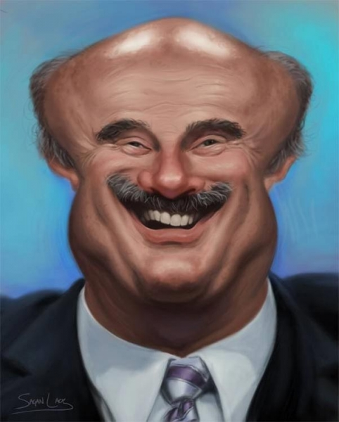 Sagan Lacy Studio Caricature of Dr. Phil