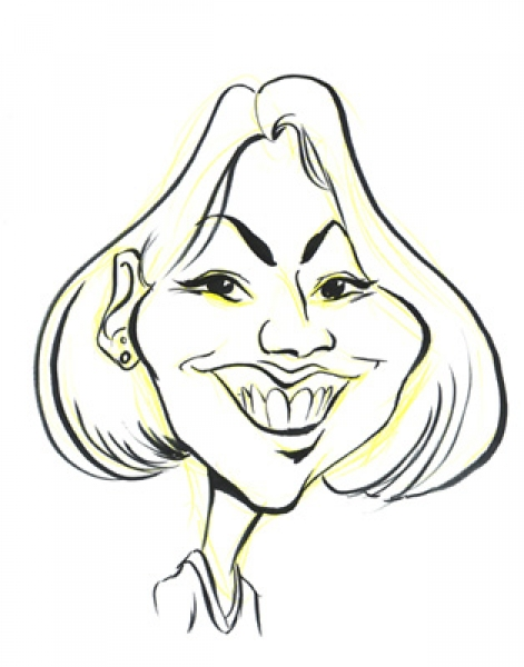 Sagan Lacy Party Caricature
