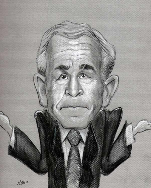 Eric Melton Studio Caricature of George W Bush