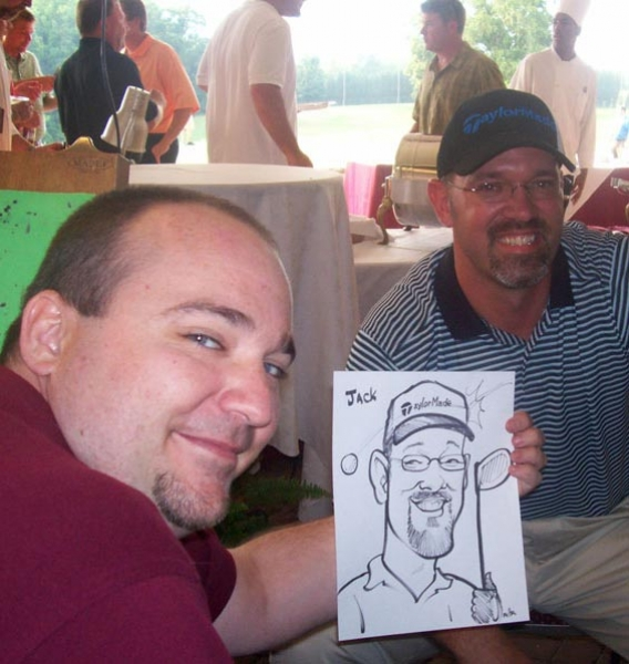 Eric Melton Party Caricature