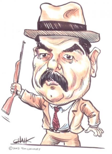 Saddam Hussein caricature by Tom Chalkley
