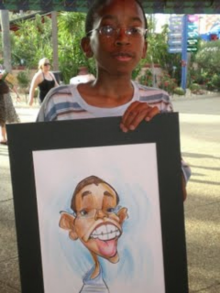 Matt Zitman Party Caricature