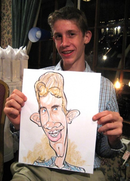 Colin Harris Party Caricature