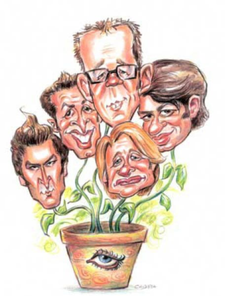 Queer Eye for the Straight Guy caricature by Lisa Chudya