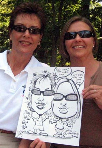 Mark Galasso Party Caricature