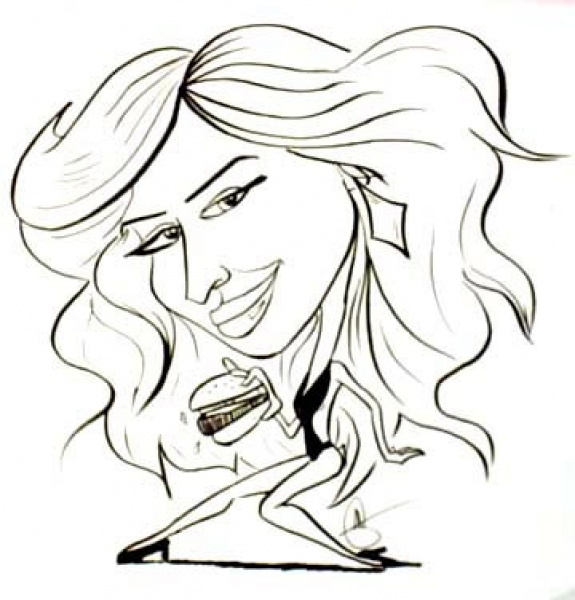 Mark Galasso Studio Caricature of Paris Hilton
