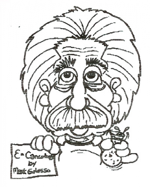 Mark Galasso Studio Caricature of Albert Einstein