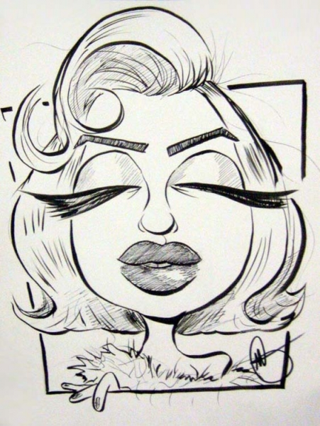 Mark Galasso Studio Caricature of Marilyn Monroe