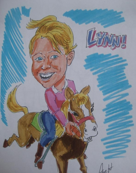 Joe Hollingsworth Party Caricature