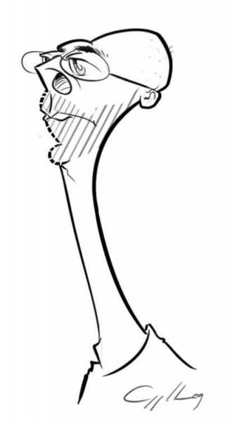 William Appledorn Party Caricature