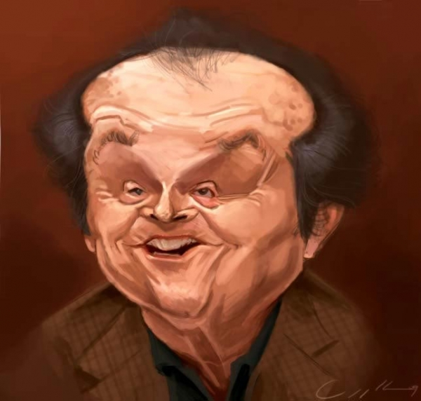 William Appledorn Studio Caricature of Jack Nicholson