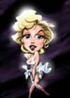 Barton Mcgee Studio Caricature of Marilyn Monroe