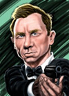 Barton Mcgee Studio Caricature of James Bond