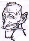 Party caricature by Sam Klemke