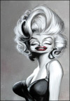 Joe Bluhm Studio Caricature of Marilyn Monroe