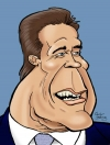 Chris Berg Studio Caricature of Arnold Schwarzenegger