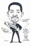 Bob Miele Studio Caricature of Will Smith