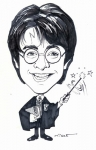 Bob Miele Studio Caricature of Harry Potter