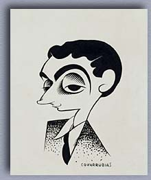 self caricature by Miguel Covarrubias