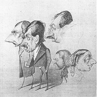 caricature by Monet