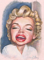 marilyn monroe caricature by emily anthony