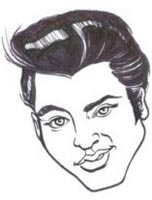 elvis presley caricature by  howard bender