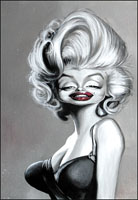 marilyn monroe caricature by joe bluhm