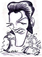 elvis presley caricature by  elgin bolling