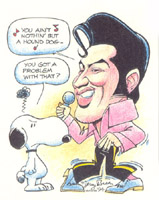 elvis presley caricature by  jerry breen