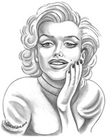 marilyn monroe caricature by carol sue