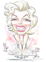 marilyn monroe caricature by tom chalkley