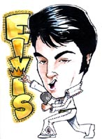 elvis presley caricature by  rich conley