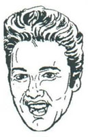 elvis presley caricature by  aggie derocher