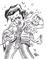 elvis presley caricature by  dino ewing