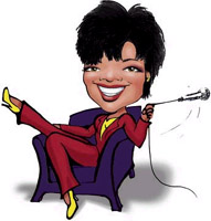 ophrah winfrey caricature by christine fusco