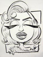 marilyn monroe caricature by mark galasso