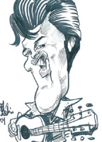 elvis presley caricature by  chris galvin