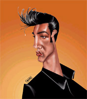 elvis presley caricature by  gogue