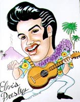 elvis presley caricature by  chris greene