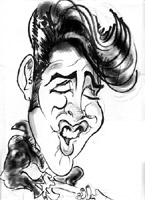 elvis presley caricature by  patrick harrington