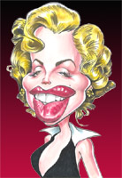 marilyn monroe caricature by mike hasson