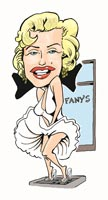 caricature by jerry shippee of marilyn monroe