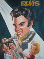 joe hollingsworth caricature of elvis presley