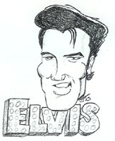 elvis presley caricature by  jim johnson
