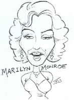 marilyn monroe caricature by jim johnson