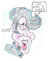 elvis presley caricature by  ken m